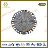 Manhole Covers Ductile Iron as per EN124 Standard with Bitumen Coating