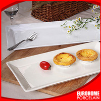 eurohome restaurant wedding banquet white rectangular dishes for hotel