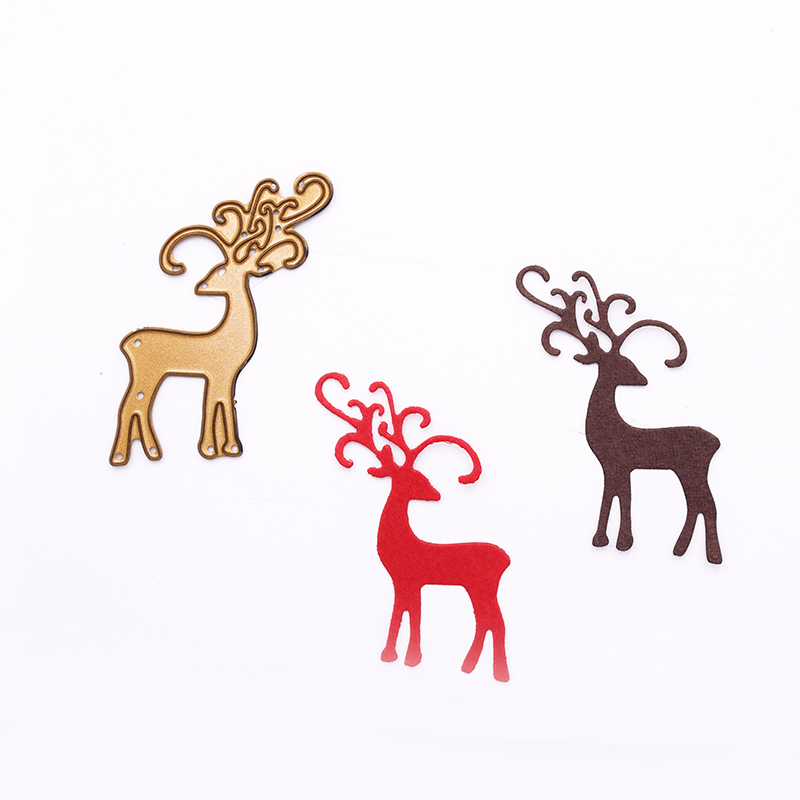 Metal Die Cutting Dies Stencils For DIY Scrapbooking Photo Album Decorative Embossing Folder Stencil Die Cut Christmas Deer