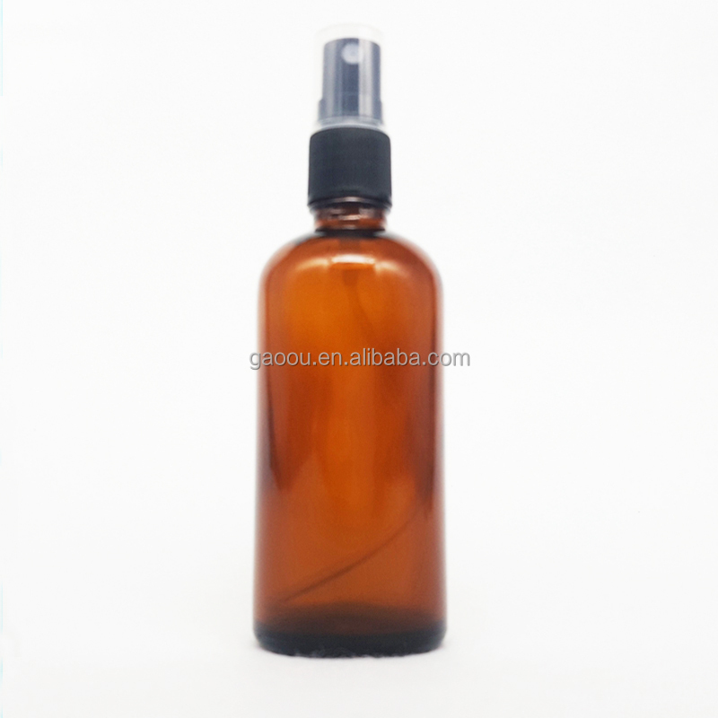 Amber Glass Bottle 100ml With Black <strong>Spray</strong> For Essential Oil Glass Bottle Perfume Use