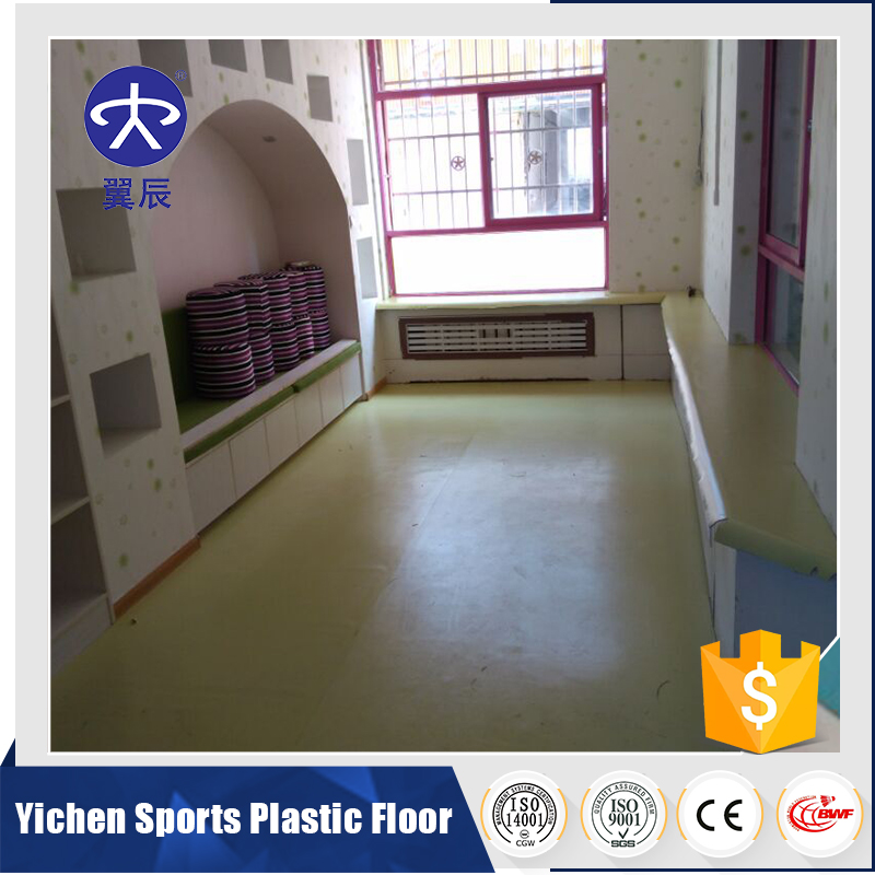 Good sale uv and transparent layer pvc flooring used kindergarten/vinyl flooring plastic floor used indoor