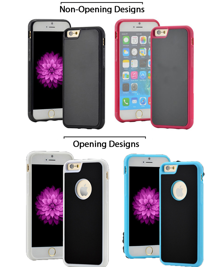 2017 new design stiky anti gravity phone case protective back cover case for iphone 7