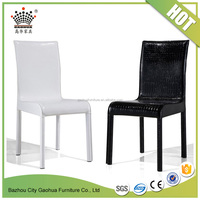 modern comfortable leather dining chairs metal leg restaurant used chairs with factory price