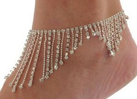 Trending hot products Bridal Sandal rhinestone Anklet Foot Jewelry