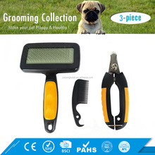 Multifunction Pet Grooming Kit Clipper Scissor Dog Cat Hair Slicker Brush Lice Nit Remover Comb
