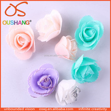 Oushang Plastic Packaging Glitter Artificial Floral Making Foaming Sheet Flowers