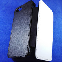 JESOY Sublimation Blank Flip PU Leather Phone Cover For iphone 4 5 5c 6 6s 7 8 Leather Wallet Case