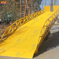 antiskid handle hydraulic mobile yard ramps for rent