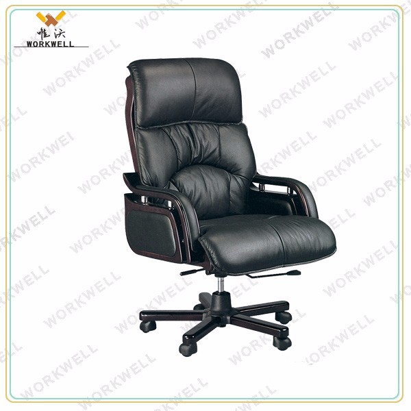WorkWell modern swivel manager leather office chair Kw-EX09