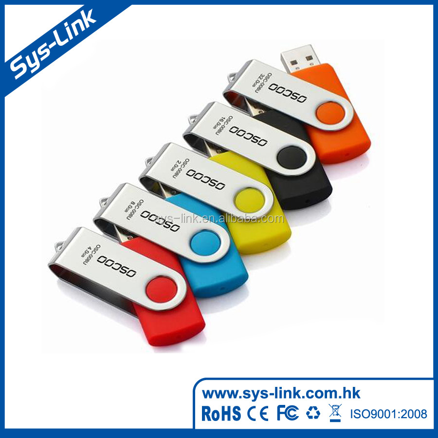 Modern unique 15.9g promotional metal swiveling usb flash drives