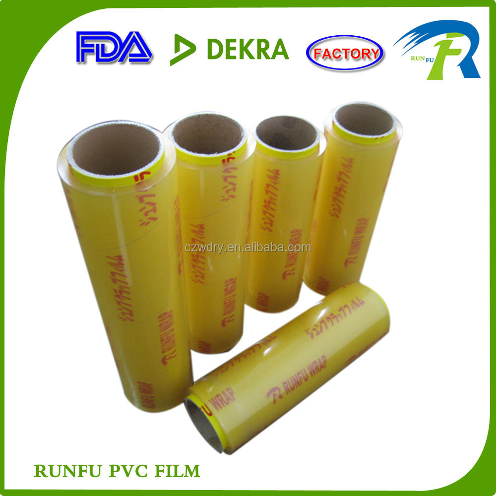 supermarket use pvc cling film wrap for food