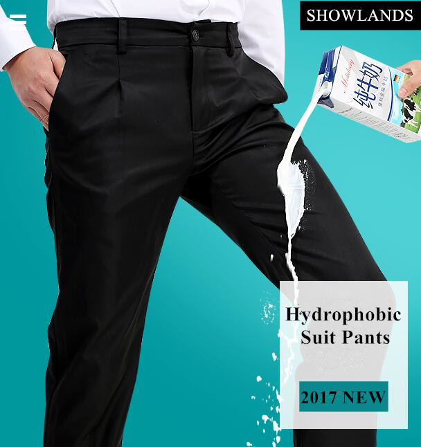 Mens Pants Formal Water Repellent Best Selling Products 2017 in USA Showlands Hydrophobic Trousers Dress Suit