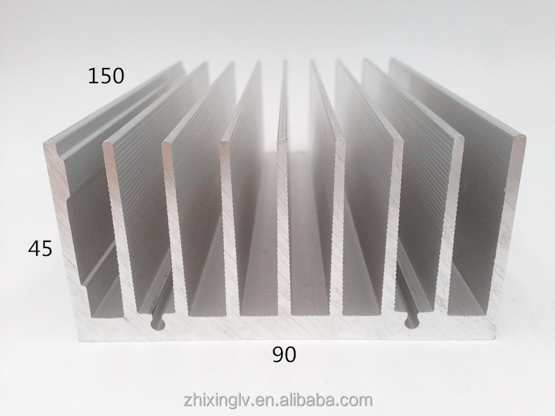 Very popular Extrusion Heat Sink profiled extruded <strong>aluminum</strong> 90*45-150 cheap best heatsink compound