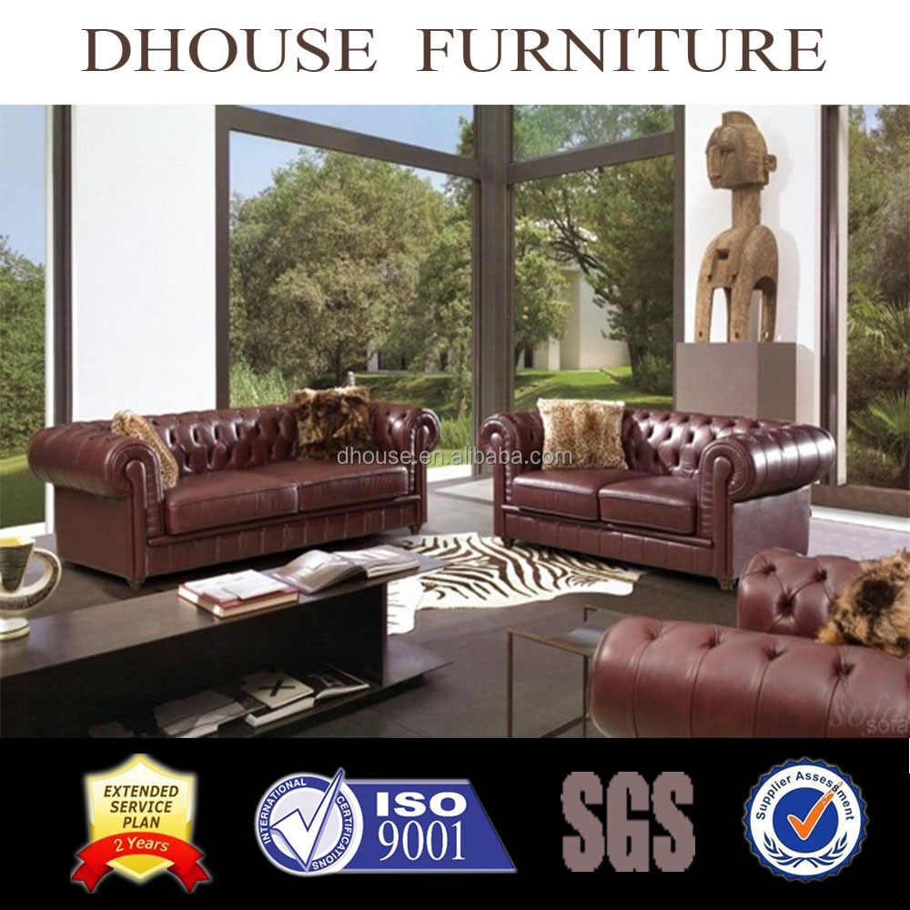8016 neoclassical leather furniture chesterfield leather sofa sets 1+2+3