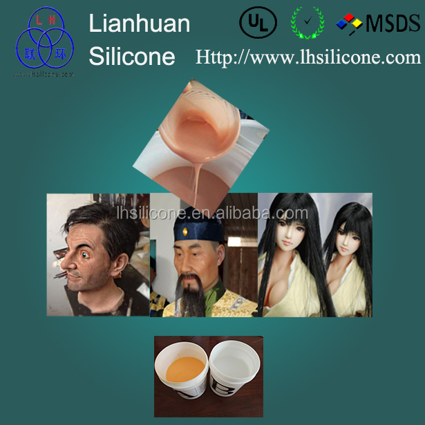 Life casting liquid silicone RTV2 / HTV for Human Body ,skin, Legs