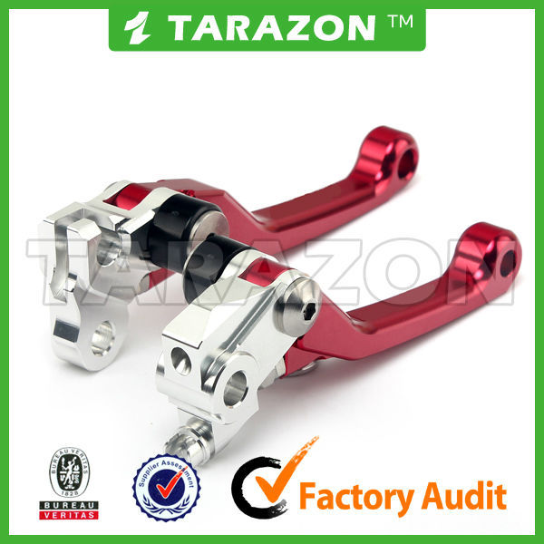 CNC Spare Parts Motocross Adjustable Aluminum Levers for KAWASAKI KX65/80/85
