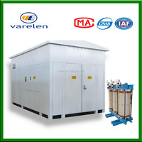 3 phase photovoltaic step-up transformer mobile substation for solar energy