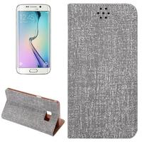Factory directly Cloth Texture leather cover for samsung s6 edge plus phone case