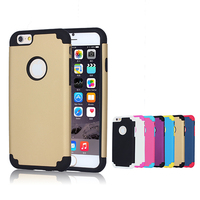 Shockproof Silicone PC Hybrid Dual Layer Phone Case for iphone 6 6s plus