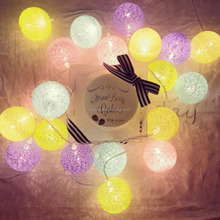 decorative covers for string lights LED cotton ball lights