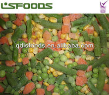 2014 Chinese IQF Frozen vegetable mixed in 4 way(sweet corn, green pea,carrot,grean bean)