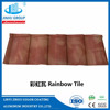 stone coated steel roofing bond tiles 1340*420*0.4mm with green back