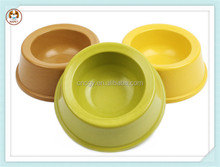 Environmental fiber circular cheap pets dog resin bowl