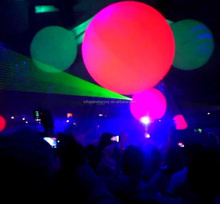 Color changeable inflatable led balloon for concert