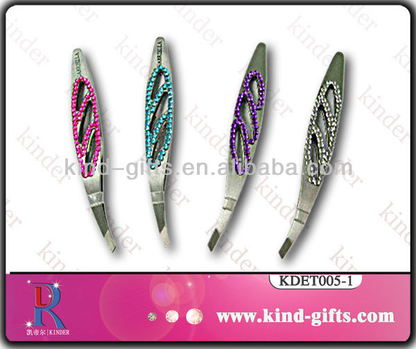 Colorful Rhinestone Stainless Steel Tweezer In Beauty And Personal Care