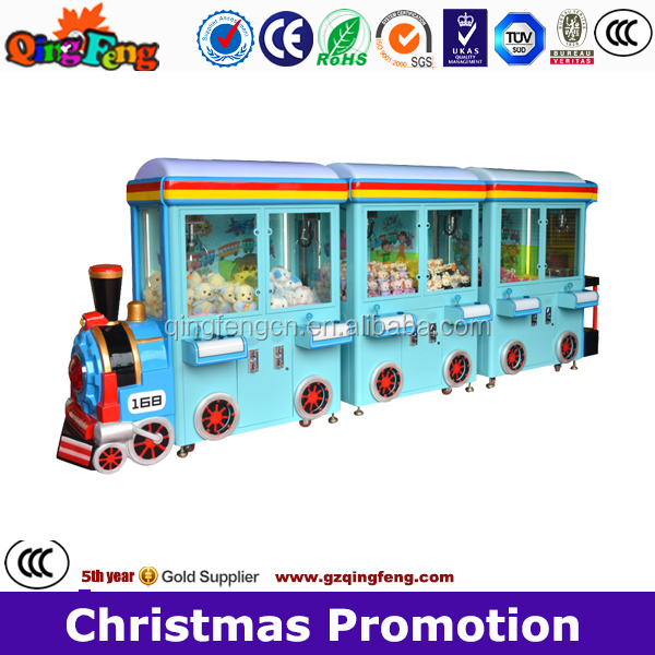 Claw crane vending machines, happy train,toy crane game machine for sale WA-QF803