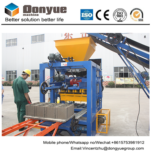 2017 Chinese machinery Electric QT4-24 Stationary Fly-Ash Concrete block Brick Making machines Plant in South Africa