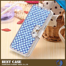 flip leather case luxury bling bling case for samsung galaxy s4 mini i9190