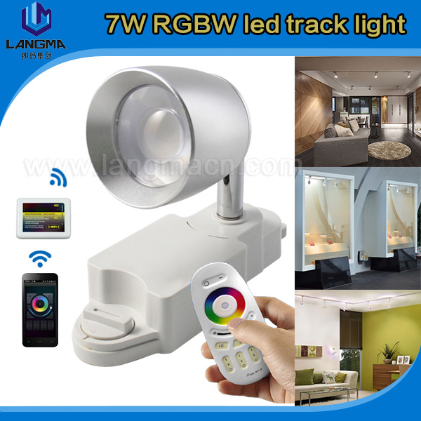 Hot Sale 20w 30w Warm White Cool White RGB color changging wifi smart phone controled Dimmable 7w two lines LED Track Spotlight