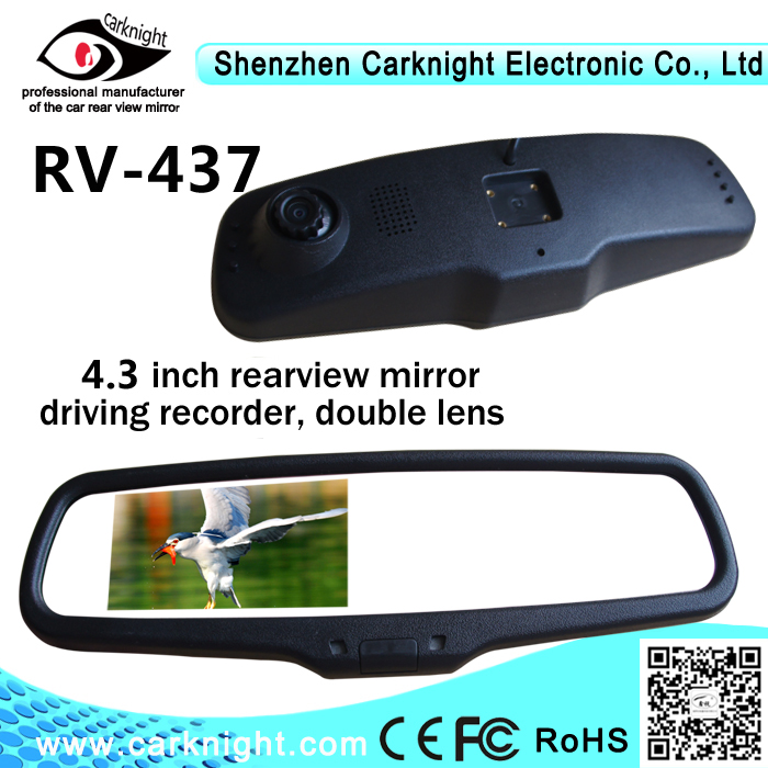Carknight Factory OEM car black box FULL HD 1080p car dvr mirror with auto dimming