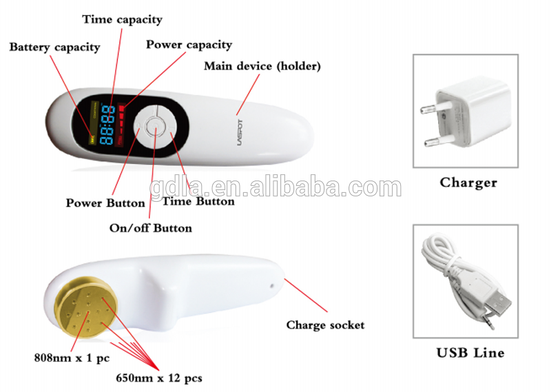 Pain relieve joint pain wound healing laser therapy machine