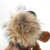 2018 Fur pom pom lion keychain fluffy animal fur ball pendant  Rings