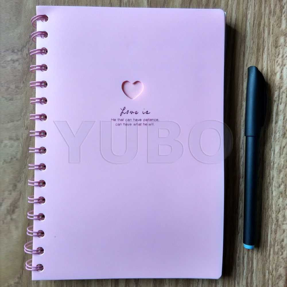 YB-2951 Notebooks and Diaries Plastic Cover Spiral Notebook exercise book writing note book