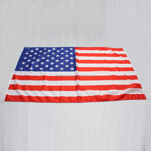High quality Two Eyelets Durable Flying Style Cheap Knitted American Cotton Flag