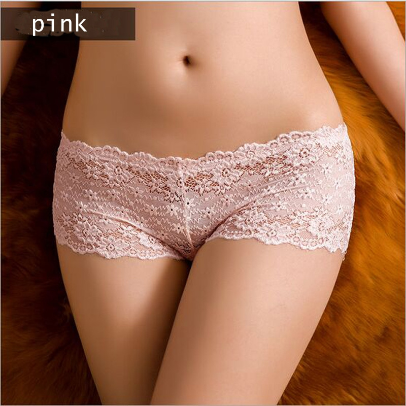 Lace Floral Underwear Women's Panties Sexy Shorts Lingerie Female