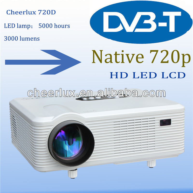Multimedia led projector 2200 Lumens /home theatre projector with TV/AV/DVB-T/HDMI