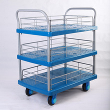 3-layer food trolley cart china mobile food cart hand push food cart for sale