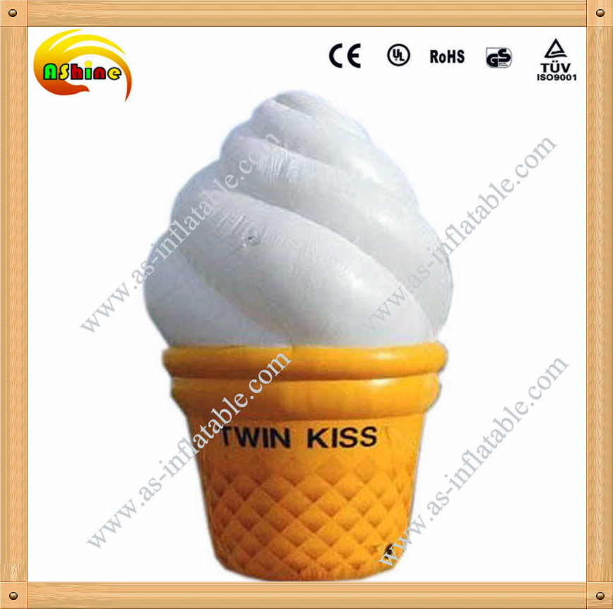 Vivid design giant publicity inflatable ice cream cone with high quality