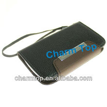 For Galaxy S3 Mini PU Leather Wallet Case with Hand Strap