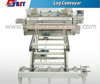 Log conveyor for plywood