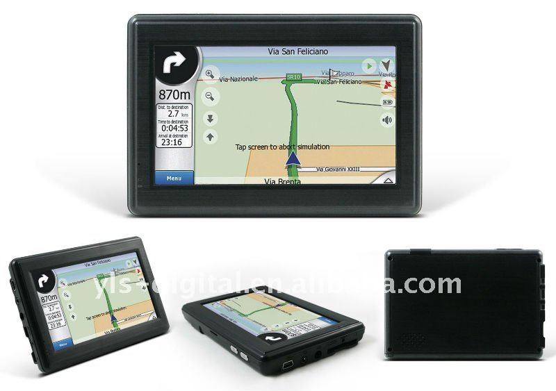 "Special Offer 4.3"" Car GPS Navigation with FM"