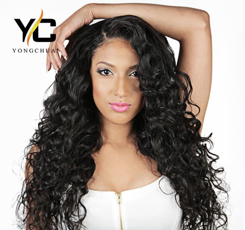 Alibaba best selling products long curly brazilian human hair wigs, natural scalp lace front wig