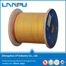 ISO certificated Factory Price awg fiber-glass covered copper wire