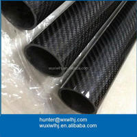 25mm 3k carbon fiber tube pipe epoxy 15mm, 12mm,50mm made in China