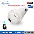 360 Degree Home Security Fisheye Bulb Wifi IP Panoramic Camera V386