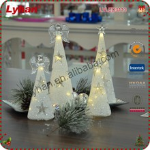 inventive glass angel figurine with LED light Christmas home decoration from Chinese supplier